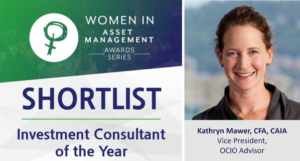 Kathryn Mawer Women in Investment Award Graphic