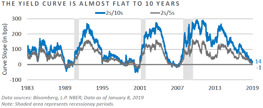 The Yield Curve is Almost Flat to 10-Years