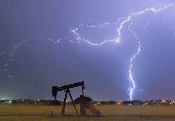 Oil Rig Lightning