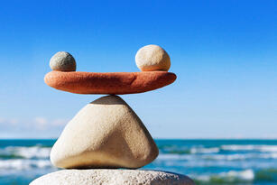 Rocks balanced on one another